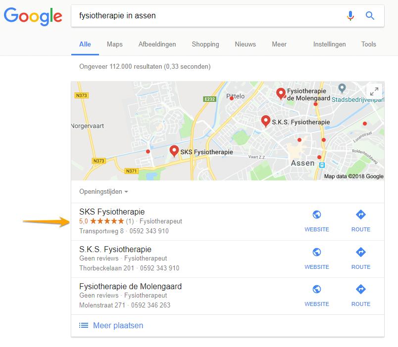Lokale zoekresultaten bij zoekopdracht Fysiotherapie in Assen