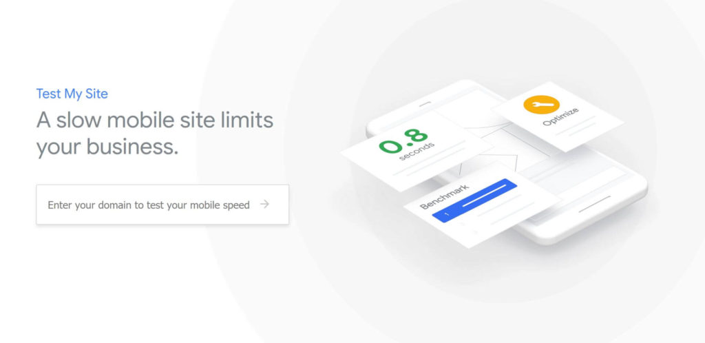 Snelheid meten mobiele website - Google tool Test My Site